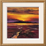 Fading Sun, Arran Limited Edition Framed Print by Davy Brown