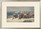 On the Beach, 1875 Prints by Winslow Homer