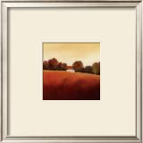 Scarlet Landscape IV Print by Hans Paus