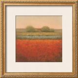 Red Field Print by Hans Dolieslager