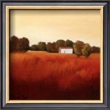 Scarlet Landscape II Posters by Hans Paus