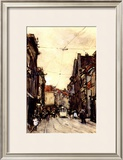 Busy Street at the Hague Netherlands Prints by Floris Arntzenius