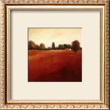 Scarlet Landscape III Prints by Hans Paus