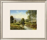 Quiet Pond Prints by H. Buchner