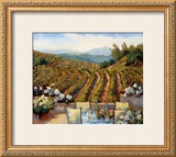 Vineyards to Mount St. Helena Print by Ellie Freudenstein