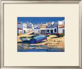 Barque Bleue a Alvor Print by Jean-Claude Quilici