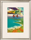 Biplane Over the Coastline Posters by Lucille Webster Holling