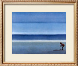 On a Solitary Beach III Prints by M. Bineton