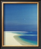 Moon over the Bay Prints by John Miller