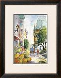 Rue St-Louis Print by Jean-roch Labrie