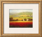 Fields of Red and Gold II Prints by Eugene Laporte