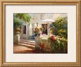 Sunlit Terrace Prints by Roberto Lombardi