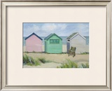Beach Huts Prints by Jane Hewlett