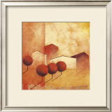 Houses and Trees in Orange and Red IV Print by Claudio Furlan