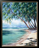 Coral Beach Print by Lois Brezinski