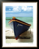 Le Bateau Bleu Poster by Chauve Auckenthaler