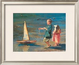 Smooth Sailing Print by Nancy Seamons Crookston