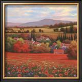 Poppy Pastures II Prints by T. C. Chiu