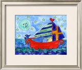 Moon Fish and Star Sailing Prints by Deborah Cavenaugh