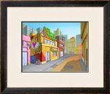 Bright Town Framed Giclee Print by Kyo Nakayama