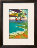 Biplane Over the Coastline Prints by Lucille Webster Holling