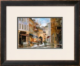 Couillard Street, Quebec Print by Ginette Racette