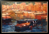 Anchored Boats, Portofino Art by Philip Craig