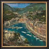 Portofino Twilight Posters by Mario Sanzone