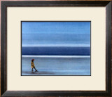 On a Solitary Beach IV Prints by M. Bineton