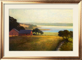Salt Water Farm Print by Sandy Wadlington