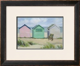Beach Huts Art by Jane Hewlett
