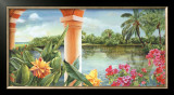 Tropical Pathways Poster by Lynn Fecteau