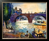 Evening by the Seine Posters by Michael Leu