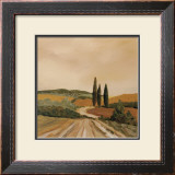 Shady Tuscan Fields Print by J. Clark