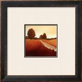 Scarlet Landscape I Prints by Hans Paus