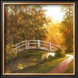 Wooden Bridge Print by T. C. Chiu