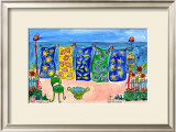 Beach Laundry Prints by Deborah Cavenaugh