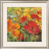 Oriental Poppy Field I Posters by Carol Rowan