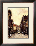Busy Street at the Hague Netherlands Print by Floris Arntzenius