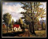 House on the Rural Road Prints by Pieter Molenaar