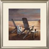 Beach Chairs Print by T. C. Chiu