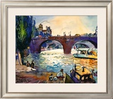 Evening by the Seine Prints by Michael Leu