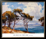 San Diego from Point Loma Print by John Comer