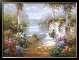 Lakeside Pergola Poster by Elan
