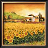 Valley of Sunflowers (detail) Prints by Richard Leblanc