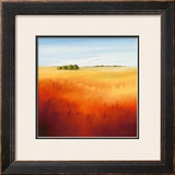 Red Fields II Print by Hans Paus