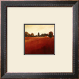 Scarlet Landscape III Art by Hans Paus