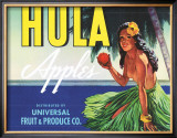 Hula Apples Framed Giclee Print