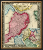 Plan of Boston, c.1860 Framed Giclee Print by Samuel Augustus Mitchell