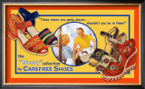 Carefree Shoes Framed Giclee Print by Kate Ward Thacker